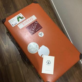 グローブトロッター(GLOBE-TROTTER)のグローブトロッター オリジナル 30インチスーツケース 廃番オレンジ(旅行用品)