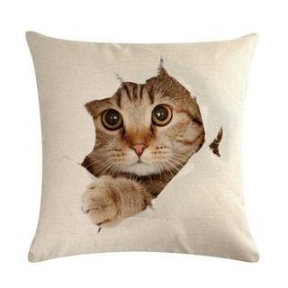猫クッションカバー 43cm×43cm 新品未使用品 送料無料♪(クッションカバー)