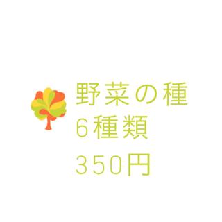 【コメント受付ページ】★送料込★野菜、果樹の種6種類(野菜)