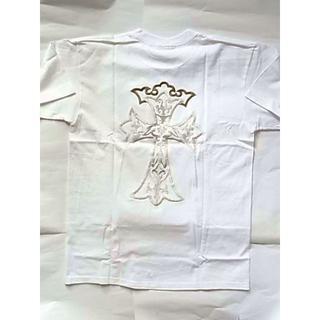 ガボール(Gabor)の未着用ガボール半袖TシャツM白色ホワイト系刺繍クロス ショートスリーブ(Tシャツ/カットソー(半袖/袖なし))