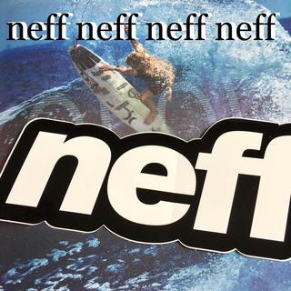 ネフ(Neff)のNEFFネフ US限定ヘッドウエアnewBIGアングルロゴステッカーblk(サーフィン)