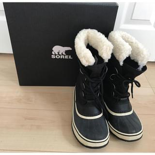ソレル(SOREL)のSorel ソレル スノーブーツ ウインターカーニバル ブラック 24cm (ブーツ)