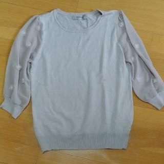 リランドチュール(Rirandture)のニット 袖シースルー ニット(ニット/セーター)