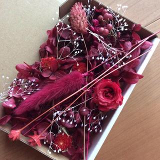 L レッド 花材 アソートボックス(プリザーブドフラワー)