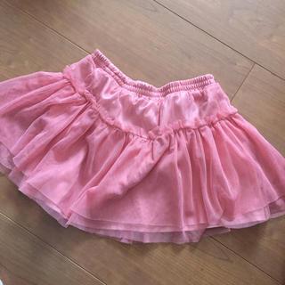 ジーユー(GU)の❤︎ GU チュールスカート 120 ピンク スカート 裏地付き(スカート)
