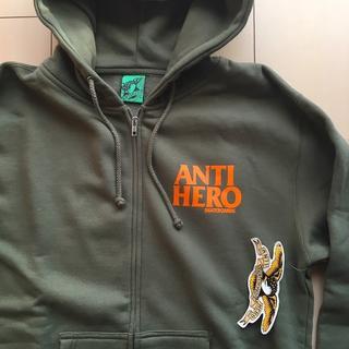 アンチヒーロー(ANTIHERO)の新品 ANTI HERO アンタイヒーロー ジップフーディ パーカー オリーブ(スケートボード)