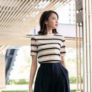 ジーユー(GU)のマルチボーダーT(半袖)(Tシャツ(半袖/袖なし))