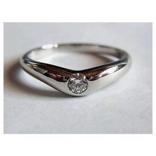 ティファニー(Tiffany & Co.)の美品ティファニー ダイヤpt950リング指輪21号ダイヤモンド1粒0.18ct(リング(指輪))