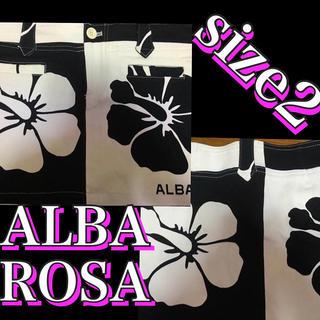 アルバローザ(ALBA ROSA)の🌺ALBA ROSA 大人気 升目柄 ミニスカート BLACK&WHITE(ミニスカート)