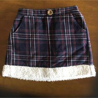 シマムラ(しまむら)の120サイズ☆チェックスカート(スカート)