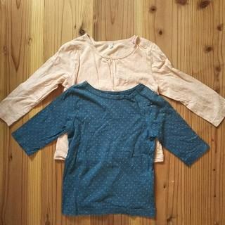 無印良品 長袖&七分Tシャツ 90 水玉