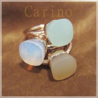 天然石 キャンディリング クォーツリング 指輪 ムーンストーン ベージュ (リング(指輪))