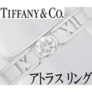 ティファニー(Tiffany & Co.)のティファニー アトラス ダイヤ 1P 一粒 K18WG リング 指輪 8号(リング(指輪))