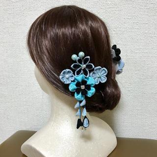 髪飾り つまみ細工 成人式 結婚式(ヘアアクセサリー)