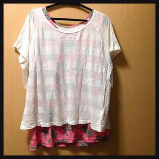 マックハウス(Mac-House)のTシャツ&花柄のタンクトップ2点セットマックハウス(Tシャツ(半袖/袖なし))