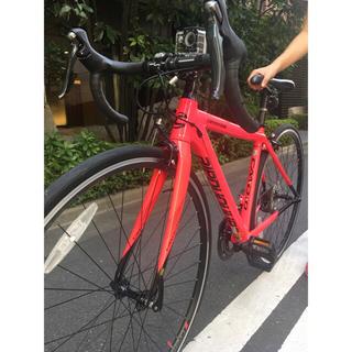 キャノンデール(Cannondale)のCannondale caad10 pink 150-165cm 新品同様(自転車本体)