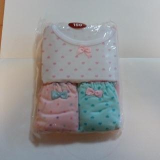 シマムラ(しまむら)の新品未使用 150サイズ女児インナー 半袖&ショーツ 各2枚セット(下着)