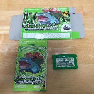 ゲームボーイアドバンス(ゲームボーイアドバンス)のポケットモンスター リーフグリーン (携帯用ゲームソフト)