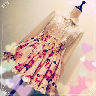 リズリサ(LIZ LISA)の1月限定価格♡ローズコルセットスカート(ミニスカート)