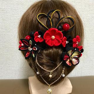 髪飾り つまみ細工 成人式 結婚式 前撮り(ヘアアクセサリー)