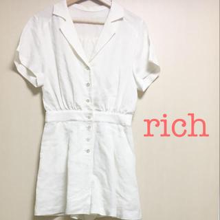 リッチ(rich)のrich オールインワン ホワイト タグ付き 新品 白(オールインワン)