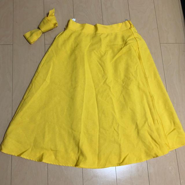 しまむら(シマムラ)のしまむら♡りぼん付きスカート レディースのスカート(ひざ丈スカート)の商品写真