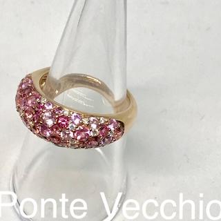 ポンテヴェキオ(PonteVecchio)のポンテヴェキオ  サファイア ダイヤ  K18PG(リング(指輪))