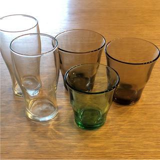 ムジルシリョウヒン(MUJI (無印良品))のmacoさん専用☆未使用 MUJI 無印 グラス ビアグラス 5個セット(グラス/カップ)