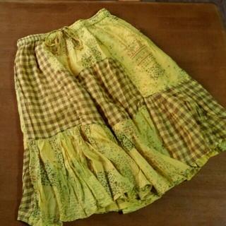 エルロデオ(EL RODEO)のエルロデオ♪綿パッチワークスカート(ひざ丈スカート)