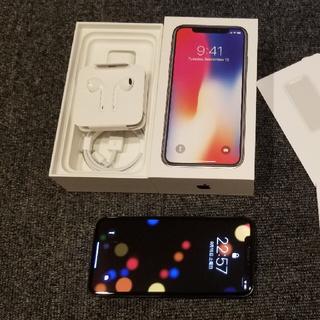 アップル(Apple)のiPhone X 64GB SIMフリー スペースグレイ(スマートフォン本体)