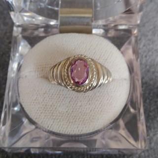 ピンク石リング(リング(指輪))