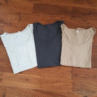 【最終値下げ】☆新品未使用☆《無印良品》Tシャツ3枚セット sizeL