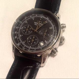 テクノス(TECHNOS)のTECHNOS テクノス メンズ 本革レザーベルト 腕時計(腕時計(アナログ))