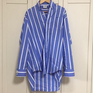 バレンシアガ(Balenciaga)のvetements 18ss オーバーサイズストライプシャツ(シャツ)