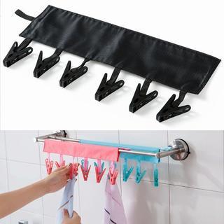 携帯 折りたたみ ピンチ 洗濯ばさみ ブラック //BXM(旅行用品)