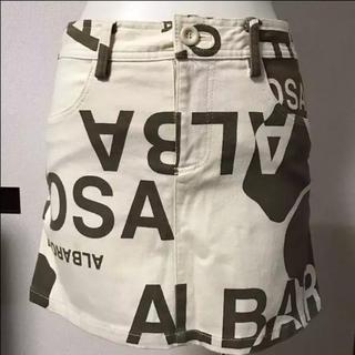 アルバローザ(ALBA ROSA)のアルバ ロゴ スカート(ミニスカート)