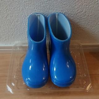 ディズニー(Disney)の男の子ミッキー長靴 ブルー 13㌢(長靴/レインシューズ)