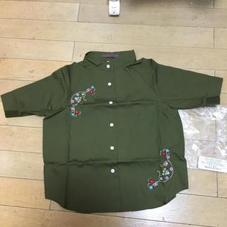 ザラ(ZARA)の【新品】120サイズ MAISON AND JAMS  刺繍入りシャツ(ブラウス)