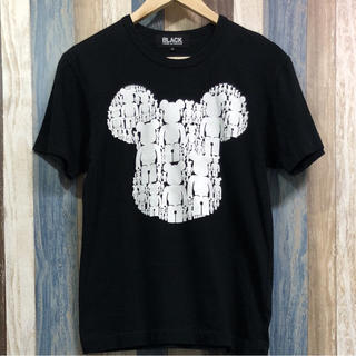 ブラック コムデギャルソン Tシャツ Sサイズ