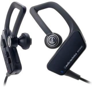 オーディオテクニカ(audio-technica)のaudio-technica イヤホン ワイヤレス 防水仕様 ブラック(ヘッドフォン/イヤフォン)