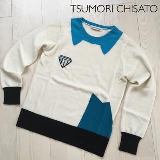 ツモリチサト(TSUMORI CHISATO)の値下げ! ツモリチサト ネコ耳 ダイヤ セーター(ニット/セーター)