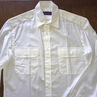 ラルフローレン(Ralph Lauren)のラルフローレン パープルレーベル エポレット付きドレスシャツ サファリ