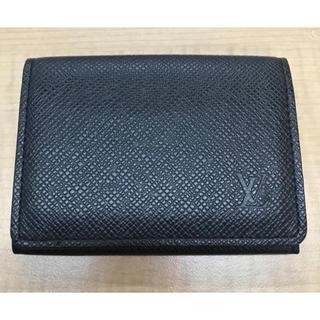 ルイヴィトン(LOUIS VUITTON)のルイヴィトン カードケース タイガ M30922 黒(名刺入れ/定期入れ)