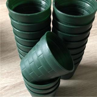 多肉植物用 可愛いミニレンガ鉢 プラ鉢  限定カラー グリーン 30個セット(その他)
