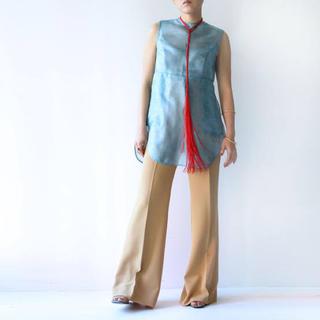 マメ(mame)のmame*Sparkle Flower Sleeveless Shirt(シャツ/ブラウス(半袖/袖なし))