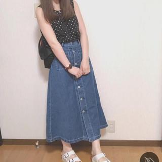ジーユー(GU)のGU ドットプリントブラウス Sサイズ(シャツ/ブラウス(半袖/袖なし))
