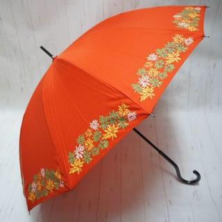 シビラ(Sybilla)のSybilla シビラ 12本骨 長傘 雨傘☆花柄 テラコッタ(傘)
