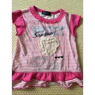 しまむら - Tシャツ ベビー 100 ピンク