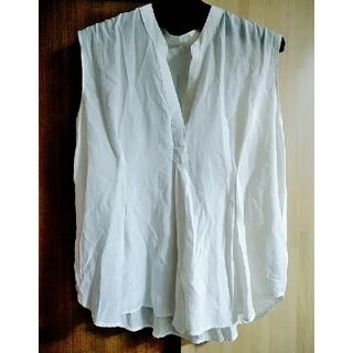 ティアンエクート(TIENS ecoute)のティアンエクート ノースリーブブラウス ホワイト Mサイズ(シャツ/ブラウス(半袖/袖なし))
