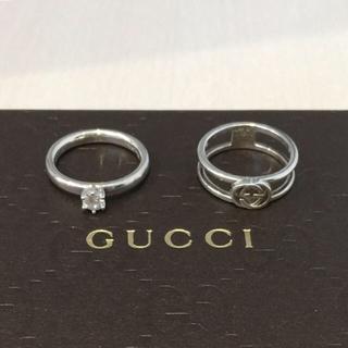 6093c800ca27 グッチ(Gucci)のトーマスサボ グッチロゴシルバーリング#12号2本